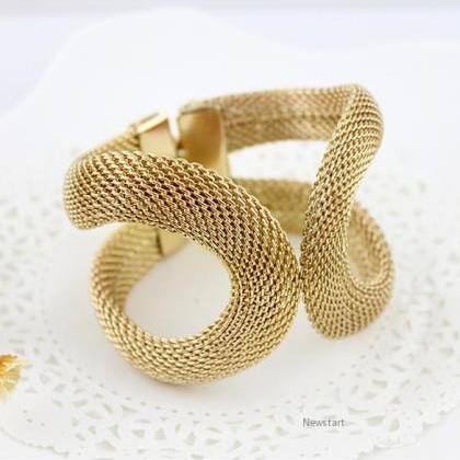 Gift Design Jewelry Gold Alloy Wide..