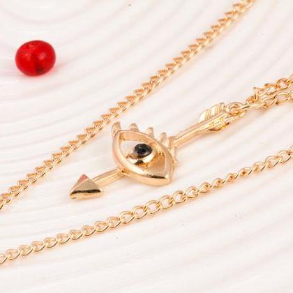 women fashion necklace DIY three la..