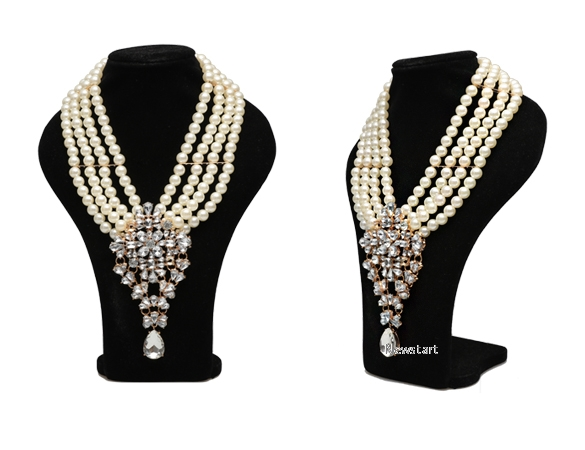 New Fashion Ladies Women pendant with rhinestone Necklace SV024333