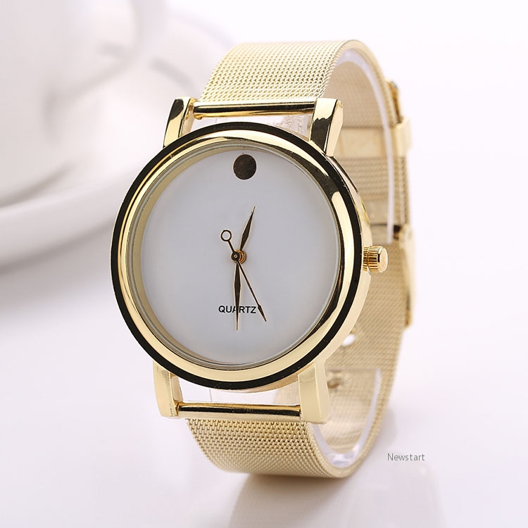 Hot Fashion Women's Elegant Round Golden Alloy Belt Wrist Watch SV019241
