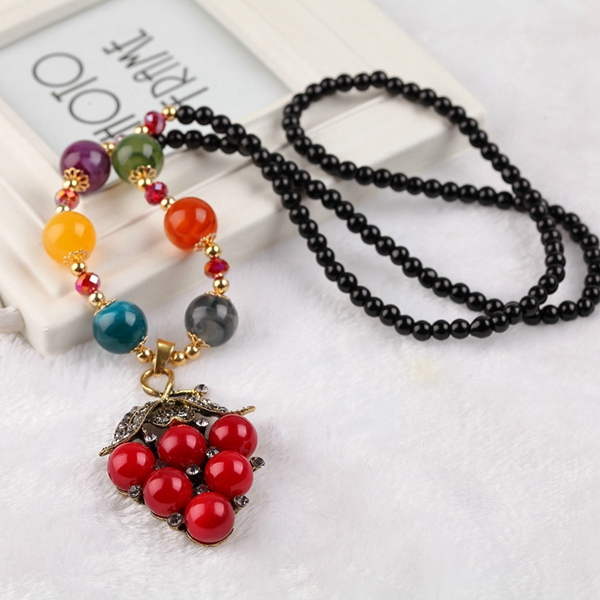 handmade agate pendants ethnic stone beads original long necklaces for women trendy party jewelry accessories gift 297