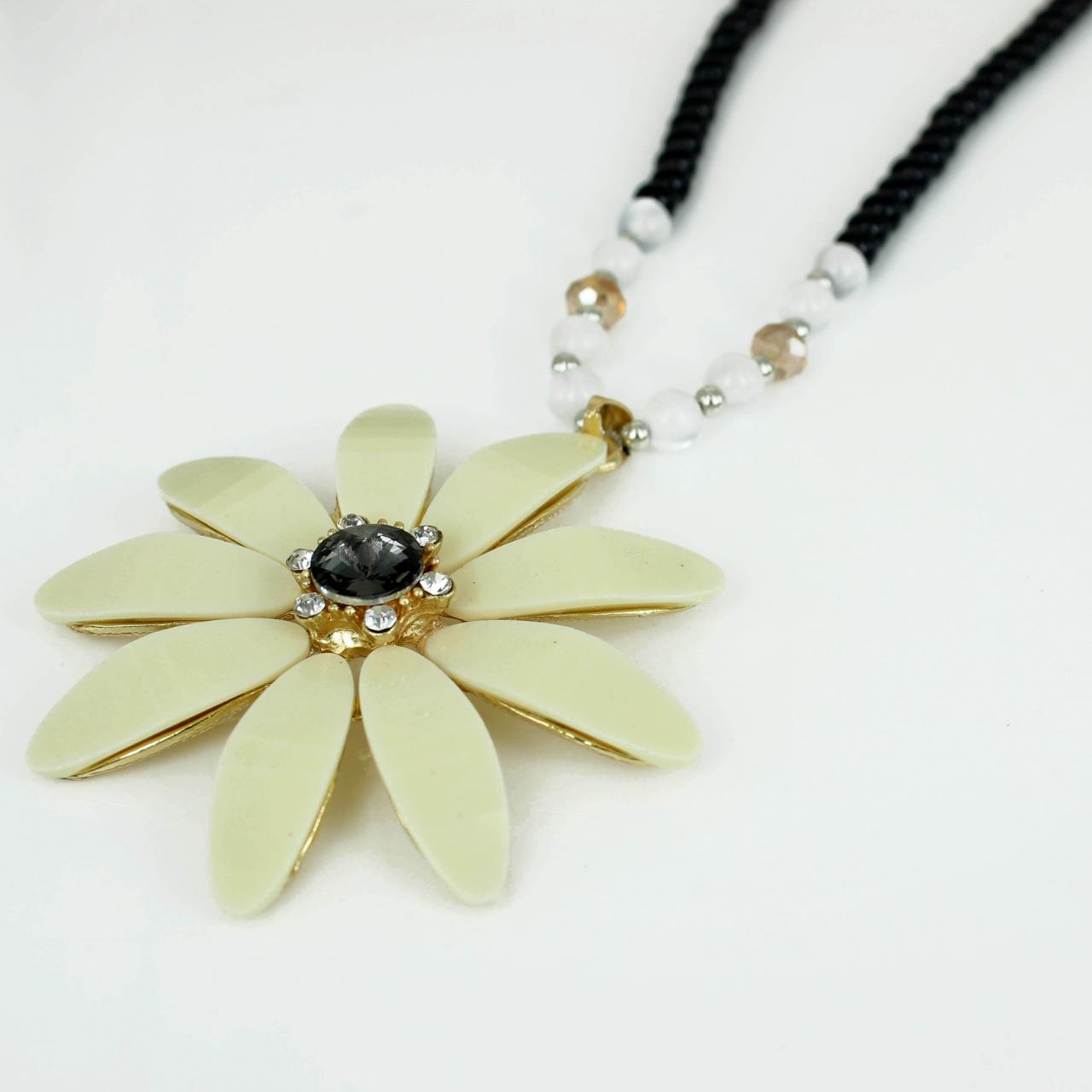 flower necklace for women long chain necklace gift