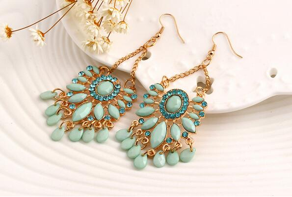 Fashion Women Boho earrings, Bohemia retro Earrings diamond jewelry 12C1