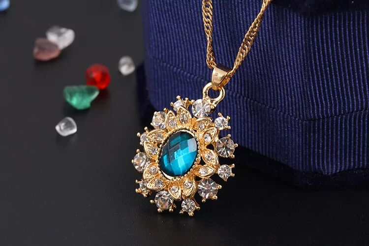 Fashion jewelry set wedding jewelry set necklace with earrings 42K22
