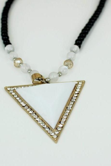 fashion geometry necklace triangle necklace personal gift