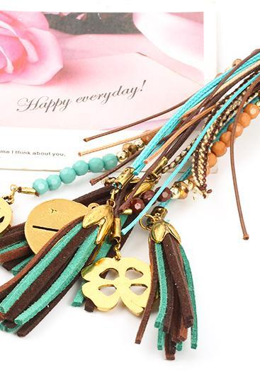 women fashion DIY outfit boho tassel necklace pendant necklace 32J21