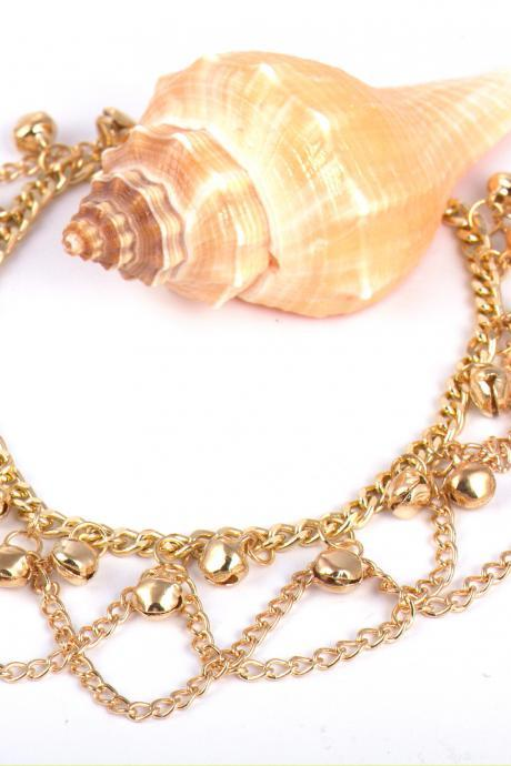 women short luxury necklace fashionable party necklace wedding necklace bride necklace gold chain 62H28
