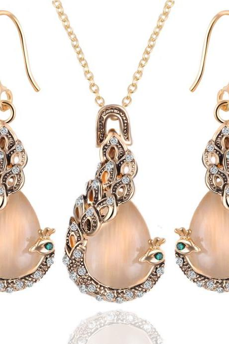 Fashion jewelry set wedding jewelry set necklace with earrings 41H52