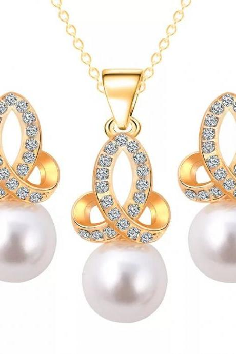Fashion jewelry set wedding jewelry set necklace with earrings 41H41