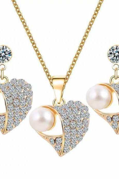 Fashion jewelry set wedding jewelry set necklace with earrings 42C52