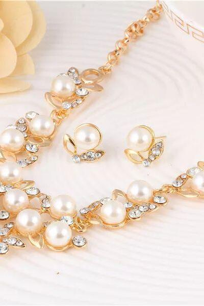 Fashion jewelry set wedding jewelry set necklace with earrings 42D23