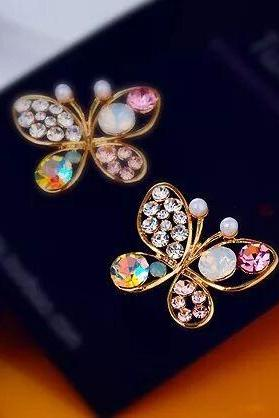 women fashion earrings,korea style korea fashion jewelry butterfly earrings
