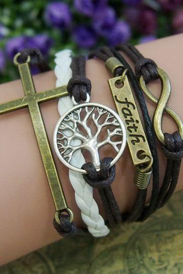 leather bracelet,leather jewelry,friendship bracelet,wrap bracelet,womens bracelet,womens jewelry,toggle bracelet,womens leather Handmade DIY Leather Cute Charm Bracelet Jewelry