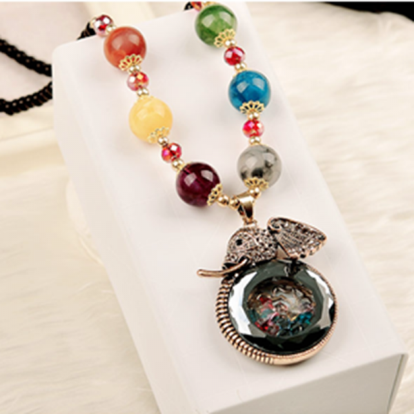 handmade agate pendants ethnic stone beads original long necklaces for women trendy party jewelry accessories gift 326