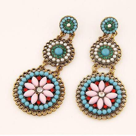 Fashion Women Boho earrings, Bohemia retro Earrings green color 12b2