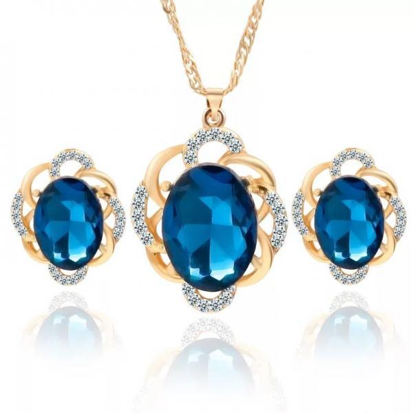 Fashion jewelry set wedding jewelry set necklace with earrings 42K10
