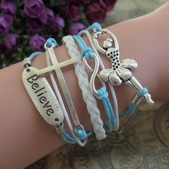 Women Leahter Bracelet Handmade DIY Leather Cute Charm Bracelet