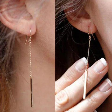 Fashion Women earrings,Simple fashion 1 font hanging Earrings